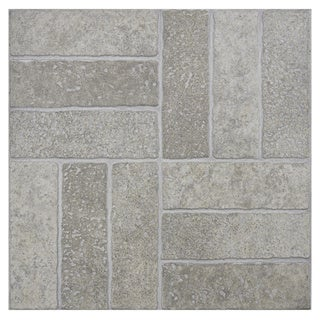 SomerTile 'Gali Grigio' 13.75-inch Porcelain Floor and Wall Tile (Case of 12)