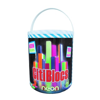 Citiblocs 100-Piece Neon Colors Construction Set