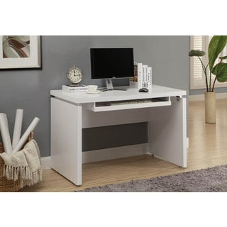 White 48-inch Long Computer Desk