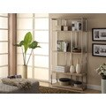72-inch High Natural Reclaimed-Look Chrome Metal Bookcase