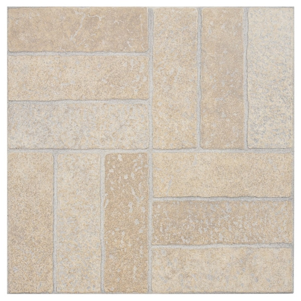 SomerTile 'Gali Beige' 13.75-inch Porcelain Floor and Wall Tile (Case of 12)