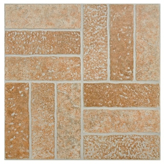 SomerTile 'Gali Rosso' 13.75-inch Porcelain Floor and Wall Tile (Case of 12)