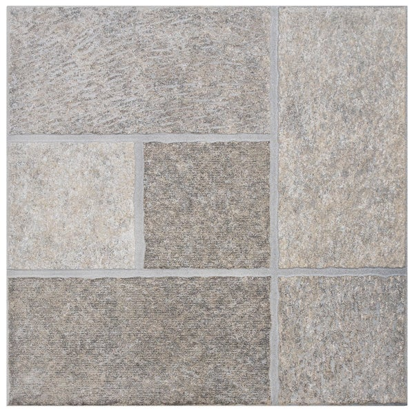SomerTile 'Celtic Grigio' 13.5-inch Porcelain Floor and Wall Tile (Case of 11)