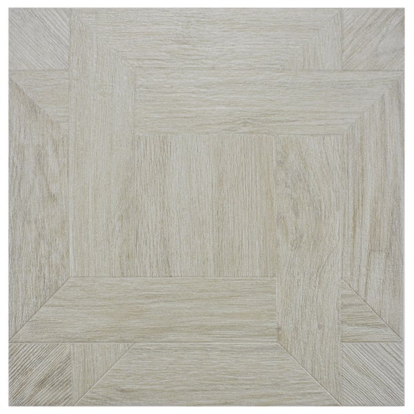 SomerTile 'Boss Blanco' 17.75-inch Ceramic Floor and Wall Tile (Case of 5)