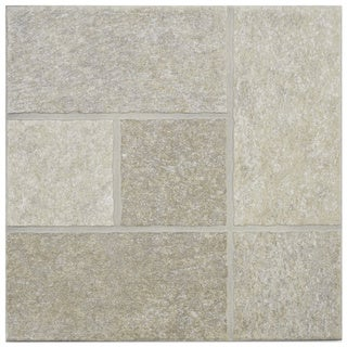 SomerTile 'Celtic Beige' 13.5-inch Porcelain Floor and Wall Tile (Case of 11)