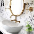 23-inch White Ceramic Oblong Bathroom Vessel Sink