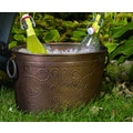 Antiqued 'Vine' Oval Metal Party Tub