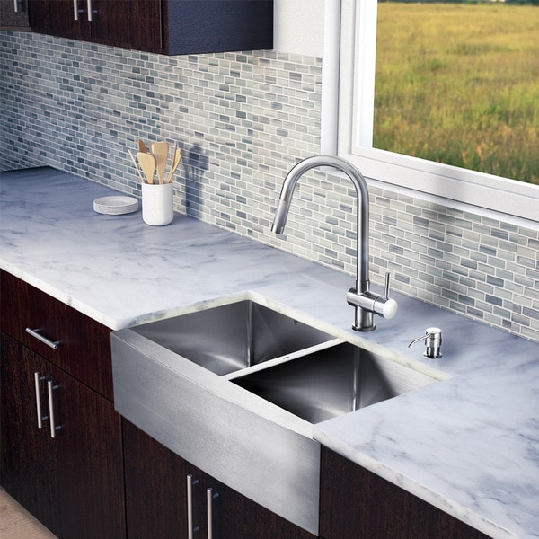Price search results for Vigo All In One 33inch Farmhouse Stainless ...