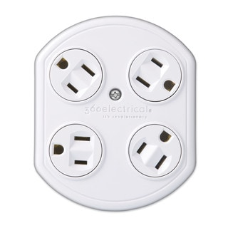 360 Electrical 36030 4-outlet Rotating Adapter