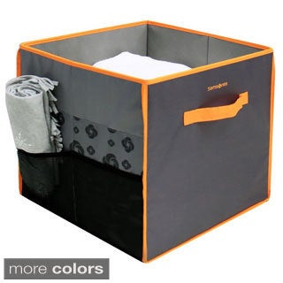 Samsonite Black and Red Collapsible Storage Cube
