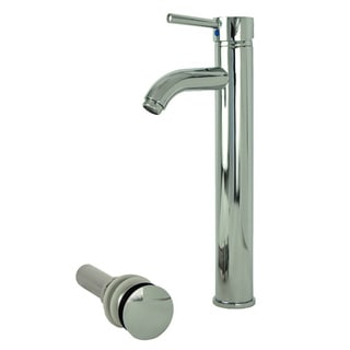 Fontaine Ultime Chrome European Vessel Sink Faucet and Drain Set