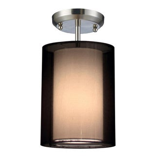 Nikko Brushed Nickel 1-light Semi Flush Mount