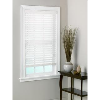 White Bamboo Window Blinds 2-inch Slats