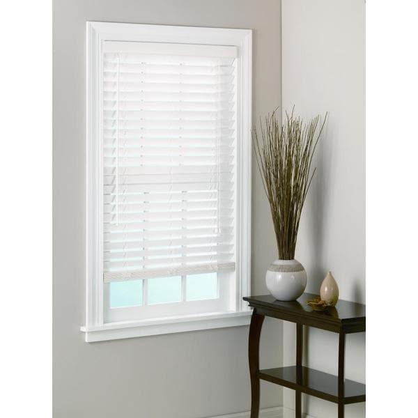 White Bamboo Window Blinds 2 Inch Slats 15644482