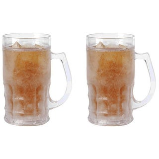 Wyndham House 16.9-ounce Freezing Gel Beer Mugs (Set of 2)