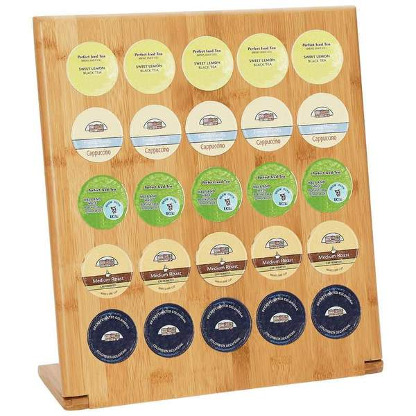 HealthSmart Bamboo 25-Cup Coffee-pod Rack