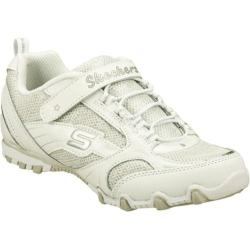 Girls' Skechers Bikers II Thrillz White/Silver