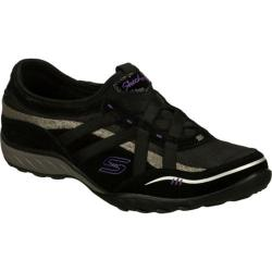 Women's Skechers Relaxed Fit Breathe Easy Black/Silver