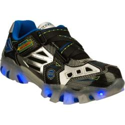 Boys' Skechers Super Hot Lights Street Lightz Black/Silver