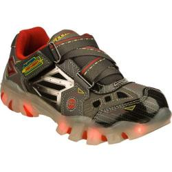 Boys' Skechers Super Hot Lights Street Lightz Gray/Red
