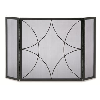 Pilgrim Home & Hearth NF Forged Diamond 3-panel Fireplace Screen