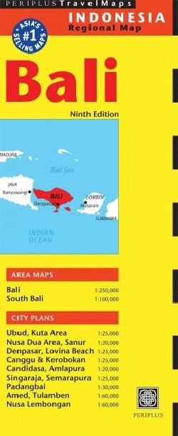 Periplus Travel Map Bali, Indonesia Regional Map (Sheet map, folded)