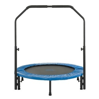 Upper Bounce 40-inch Mini Foldable Fitness Trampoline with Adjustable Handrail