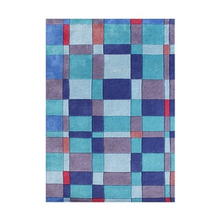 Alliyah Hand-tufted French Blue New Zeeland Blend Wool Rug (8' x 10')