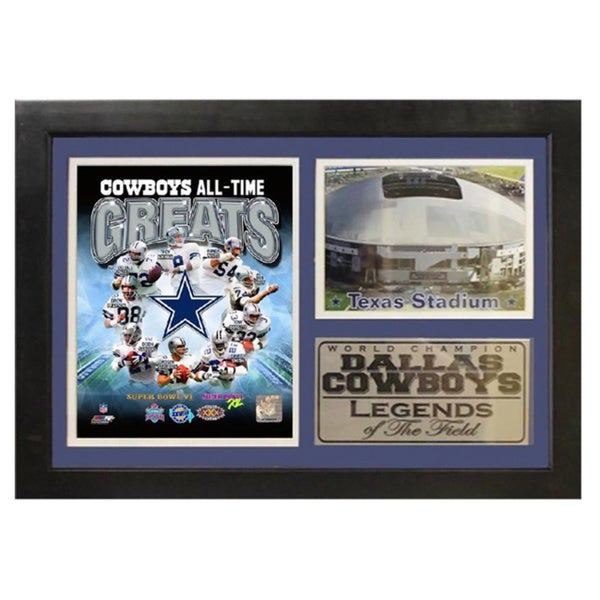 Dallas Cowboys Greats 12 x 18 Photo Stat Frame