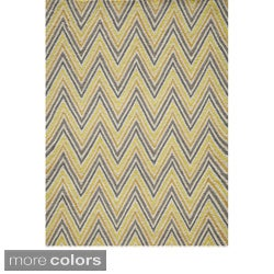 Cozumel Hand-hooked Chevron Polyester Area Rug