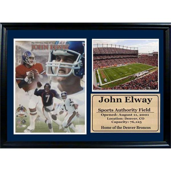 John Elway 12 x 18 Photo Stat Frame