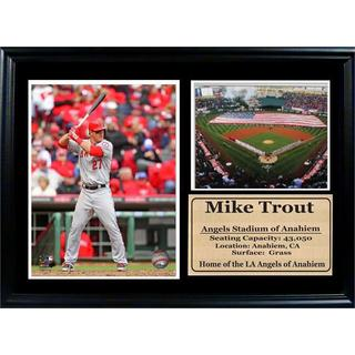 Los Angeles Angels Mike Trout 12 x 18 Photo Stat Frame