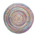 Celebration Jute Multi Chindi Braid Hand-woven Rug (6' Round)