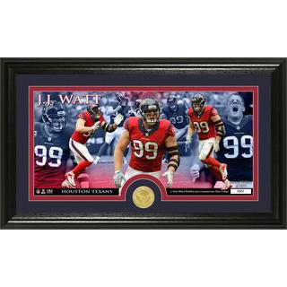 Houston Texans JJ Watts Bronze Coin Panoramic Photo Mint