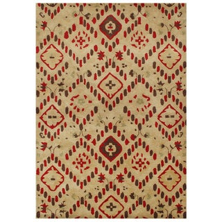 Handmade Latte New Zeeland Blend Wool Area Rug (5' x 8')