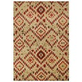 Handmade Latte New Zeeland Blend Wool Area Rug (8' x 10')