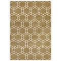 Handmade Bright Gold New Zeeland Blend Wool Area Rug (5' x 8')