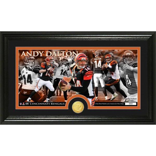 Andy Dalton Bronze Coin Panoramic Photo Mint