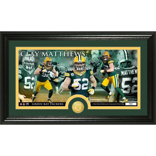 Clay Matthews Bronze Coin Panoramic Photo Mint