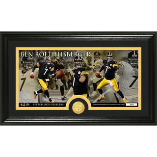 Pittsburgh Steelers Ben Roethlisberger Bronze Coin Panoramic Photo Mint