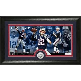 New England Patriots Tom Brady Minted Coin Panoramic Photo Mint