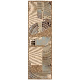 Nourison Modesto Beige Runner Rug (2'2 x 7'3)