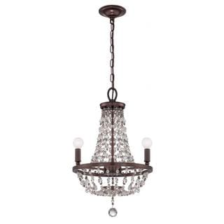 Channing 3-light Chocolate Bronze Crystal Chandelier