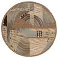 Nourison Modesto Asymmetrical-pattern Beige Rug (5'3'' Round)