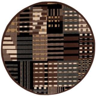 Nourison Modesto Grey Rug (5'3 Round)