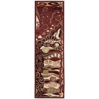 Nourison Modesto Red Rug Runner (2'3 x 7'3)