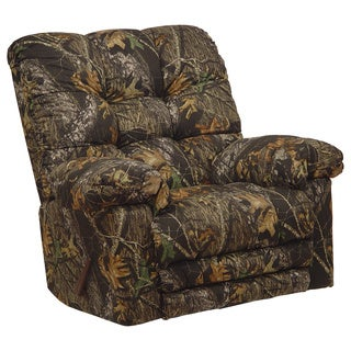 Catnapper Magnum Camo Chaise Rocker Recliner, Big Man, Heat and Massage