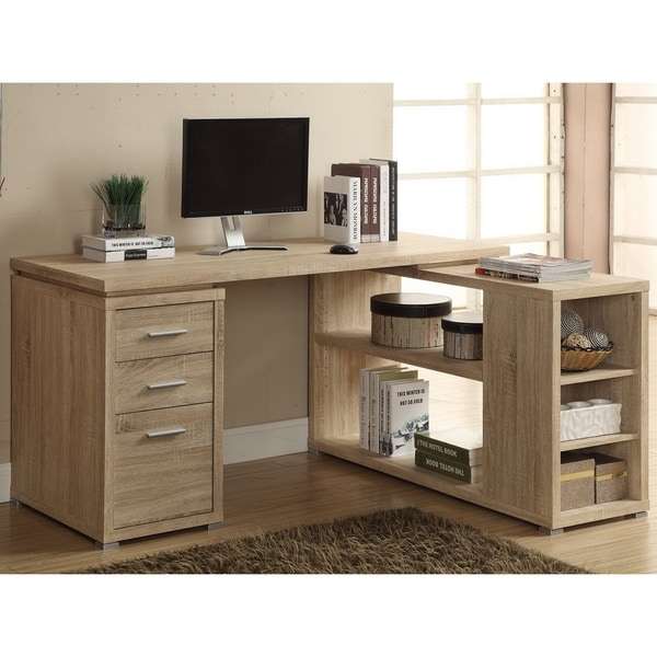 Natural Reclaimed-look Corner Desk - 15646795 - Overstock.com Shopping ...