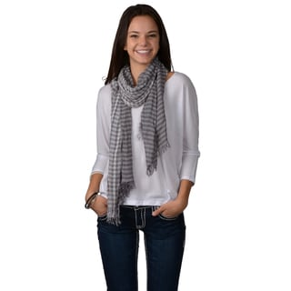 Journee Collection Womens Fringed Lattice Scarf
