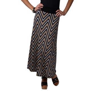 Journee Collection Juniors Chevron Print Maxi Skirt